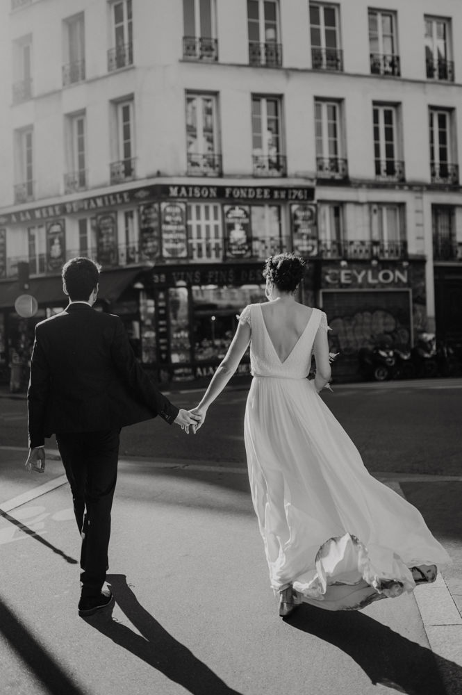 mariage urbain et citadin paris - photographe mariage andy festival - inspiration mariée moderne et naturelle paris - leslie photographie